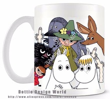 Hot Cartoon Moomin Valley funny novelty travel mug 11oz Ceramic white coffee tea milk cup Personalized Birthday Easter gifts