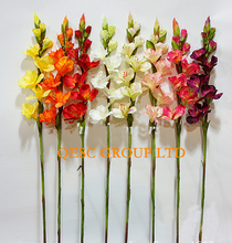 Gladiolus artificial flowers Silk flower for fascinator hair accessory Home Decor Wedding Nursery decor.