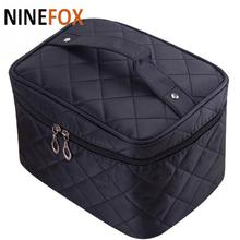 Cosmetic Bag For Women 3D Laser Diamond Pattern Portable Make Up Bag Case Hanging Toiletries Travel Jewelry Organizer Fashion(China)