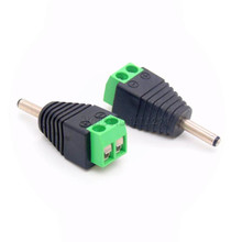10Pcs Male DC Power Plug Connector 1.35mm x 3.5mm 3.5*1.35mm (Screw Fastening Type) Needn't Welding DC Plug Adapter
