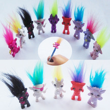5pcs/lot Mini Size Trolls Pencil Topper The Good Luck Trolls Doll Movie Roles Action Figures Model PVC Toys Gifts For Kids