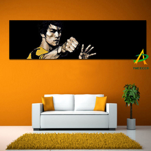 Hot sale Digital Printed Famous Bruce Lee Pop Art Oil Painting Print on Canvas Unframed Canvas Painting for Living Room Wall Art