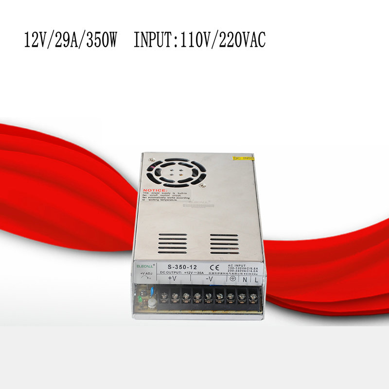 S-350-12 12V/29A/350W switching power supply, centralized power supply, power supply security monitoring<br>