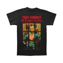 David Bowie Men'S Ziggy Phone Booth T Shirt Black(China)