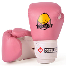 1 Pair Kids Children Kickboxing Kick Box Training Punching Sports Fighting Golves Boxing Glove Hand Protector(China)