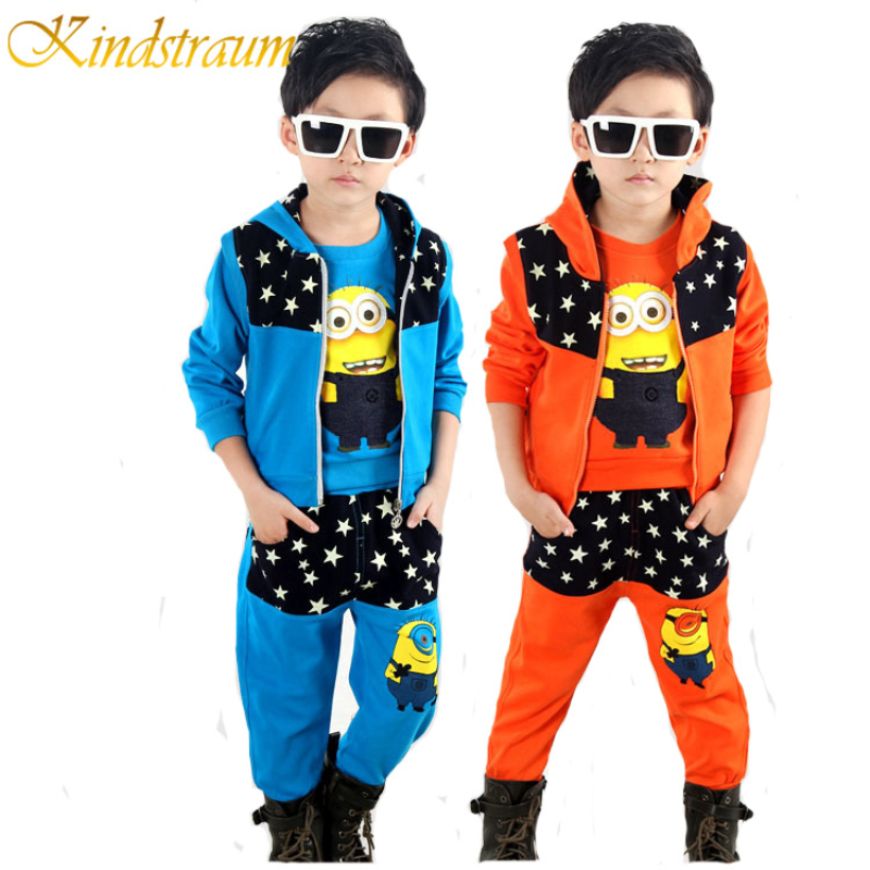 Kindstraum Minions Costumes for Kids 3pcs Spring Clothing Sets for Kids Boys &amp; Girls Spring Autumn Kids Sports Sets Suits, MC394<br><br>Aliexpress