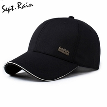 2017 Mens Spring Adjustable Cotton Fitted Baseball Caps Male Simple Black Formal Snapback Dad Hat Fashion Breathable Truck Hats