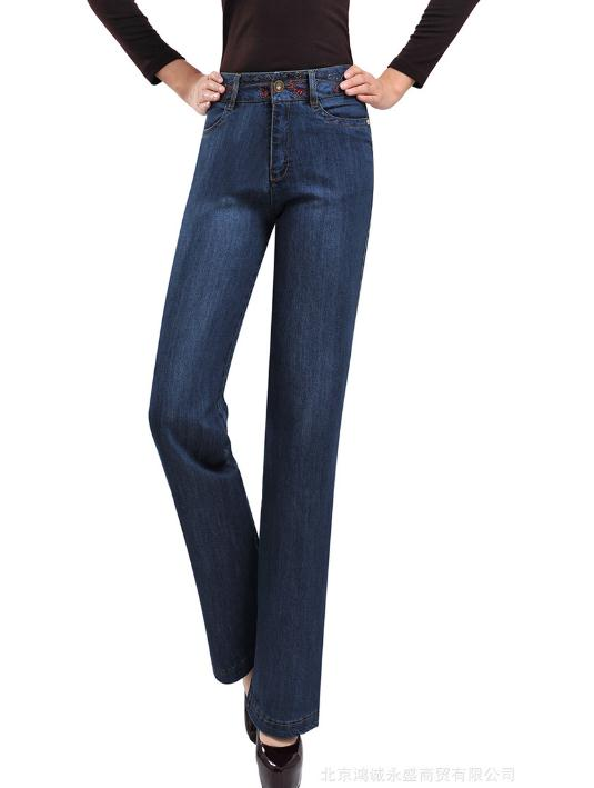 Plus velvet thick high waist wide leg pants large size womens elastic wide legs pants warm womens jeansÎäåæäà è àêñåññóàðû<br><br>