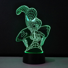 LED Acrylic plates Night Light Spiderman Decor Table Lamp Cool Luminaria Lampara Infantil Lampe Enfant New children Kids Gifts(China)