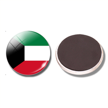 Kuwait Flag 30 MM Fridge Magnet State of Kuwait Flag Al Kuwait Glass Dome Magnetic Refrigerator Stickers Note Holder Home Decor(China)