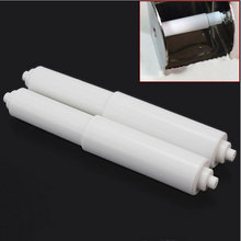 2x Plastic Toilet Paper Rollers Roll Holder Replacement Stretch Spindle Spring Bathroom Accessories Free Shipping MS534(China)