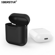 XBERSTAR Case For Apple Airpods Air Pods Silicone Case Protective Cover Pouch Anti Lost Protector Accessories