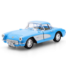 1:32 Retro Classic Vintage Car Diecast Alloy Metal Luxury Car Model Collection Model Pull Back Toys Car Gift For Boy(China)