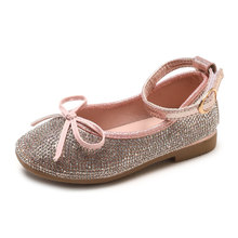 COZULMA Kids Shining Shoes for Girls Baby Bow Tie PU Leather Shoes Sneakers  Girl Princess Rhinestone cc5fe4fb163e