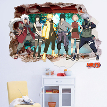 3D DIY Naruto Wall Stickers Creative Cartoon PVC Children's Room Painting Waterproof  Japan Style Home Decor Wall Papers