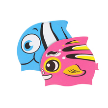 Cartoon Swimming Cap Baby Swimming Pool Accessories Silicon Diving Waterproof Children Clothes Accessories For Swimming
