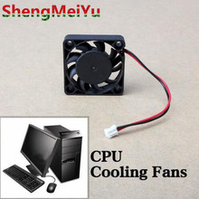 Top Quality 12V 2 Pin 40mm Computer Cooler Small Cooling Fan PC Black F Heat Sink ABS Material Mini Size Fans(China)