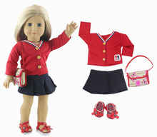 1 Set Doll Clothes for 18 Inch American Girl Doll Handmade Tennis Clothes Outfit
