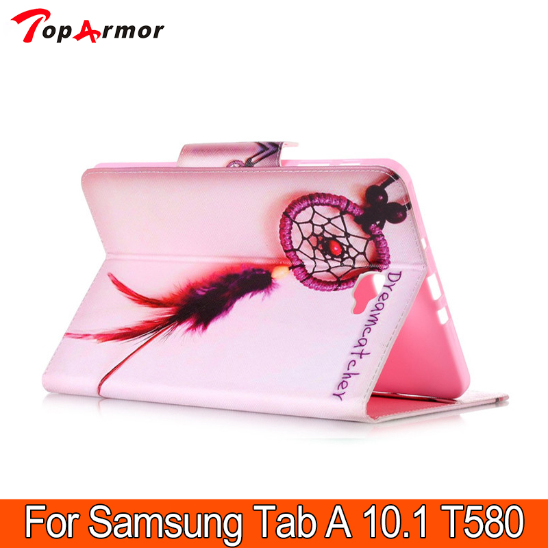 TopArmor Luxury Art pattern front Stand 2 Folding Magnet Case Cover For Samsung Galaxy Tab A 10.1 2017 T580 T585 T580N T585N <br><br>Aliexpress