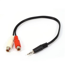3.5mm Mini Stereo Audio Cable Male Jack to 2 RCA Female Plug Adapter Cable Headphone Y Cable