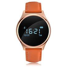 Original round leather belt Andriod iOS Bluetooth Sports Smart Bracelet Blood Pressure Wrist band Heart Rate Fitness Tracker