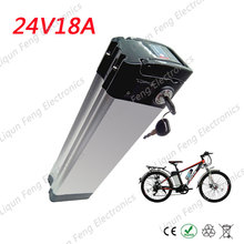 Free Shipping E-Bike Battery 24V 18AH 350W Electric Moped Electric Bicycle Battery Lithium ion Battery Pack 2AH Charger 15AH BMS