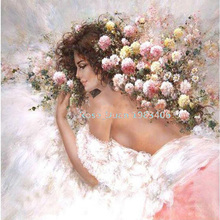 Diy diamond painting Girls - Rose diamond cross stitch crystal full Square diamond full diamond embroidery Indoor decor H968
