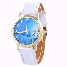Watch Women Clock Christmas Pattern Analog Quartz Vogue Watches Elegant Lady Dress Nurse Watch Temperament Popular Beautiful M/4(China)