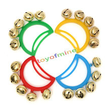 Metal Jingle Tambourine Plastic handle Fastener Tape Percussion Musical Toy Party Kids Games Instruments Party