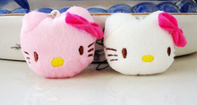 Kawaii Plush 2Colors , Stuffed Hello Kitty 3CM plush Toy Doll ; small string pendant Toy Doll , soft toys for bouquet