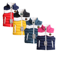 New Children Clothing Spring Fall Winter kids Thick Cotton Vest Muti-colors Patchwork  Children Waistcoat