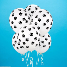 10pcs Dog Print Balloons Helium-Quality Balloons, Animal Lover's Birthday Wedding party balloons(China)
