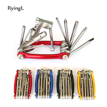 11 in 1 Mini Bicycle Repairing Tool Set Screwdriver Socket Head Wrench   Chain Cutter Portable Multitool Herramientas
