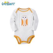 LONSANT Jumpsuit Baby Bodysuits Winter Long Sleeve Printing Bodysuits Baby Unisex Jumpsuit Warm Baby Clothes Dropshipping De7(China)