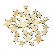 Hot Selling ! 100Pcs Mixed Star Shape Wooden Buttons DIY Scrapbook Craft Clothing Decor Button 75KI