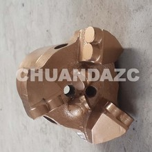 98mm PDC cutters 3 drag drill bit for mining /pdc cutter coal mining step drag bit(China)