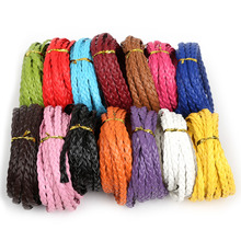Free Shipping Flat Braide 7mm PU Leather Cord Rope String Faux Leather Cord for DIY Jewelry Necklace Bracelet Craft Making