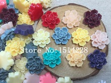 Free shipping! ( 20mm)Resin  flower . Resin flatback Cabochon for Hair Bow Scrapbooking, DIY. Z540