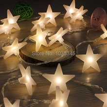 40 LED Party fairy Lights Battery Operated Five-pointed Star light LED Christmas string lights for Outdoor Indoor Xmas Party use(China)