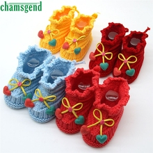 CHAMSGEND baby shoes moccasins cute winter autumn new Handcraft Shoes Toddler Baby Knitting Lace Crochet Shoes Buckle S35