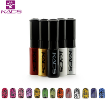 KADS Stamping nail lacquer 6 Bottles/LOT Regular Nail Polish&stamp nail polish nail art pen Optional More engaging 4 Seasons(China)