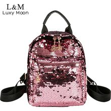 Buy Luxy moon Glitter Backpack Women Sequins Backpacks Teenage Girls Bling Fashion Brand 2018 School Bag Travel Bags mochila XA313H for $18.04 in AliExpress store