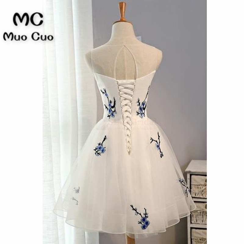 White Embroidery Graduation Dresses Prom Dresses 4