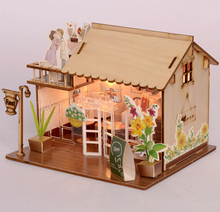 Baby Room Home Decoration Doll House Model Furniture DIY 3D Puzzle Kit Wooden Paper Toy Cute Lovely Assemble Gift(China)