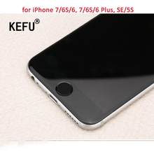 KEFU Aluminum Touch ID Home Button Sticker for iPhone 7/6S/6, 7/6S/6 Plus, SE/5S with Fingerprint Identification Function