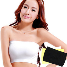 Women Lady Stretchy Elastic Strapless Modal Crop Bandeau Tube Bra Tops Bustier WOMJL0012