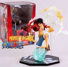18cm One Piece Monkey.D.Luffy Action Figure Fighting Cool Style One Piece Action Figures