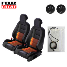 2 Sets=4 Pcs Heated Seat Heater Pad+Round Hi/Mid/Low Switch Intrepid Ram Excursion Mustang 2016 New Design A5106(China)