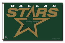 Dallas Stars Large Outdoor Banner Flag 3' x 5' Fan Flag Banner brass metal holes Flag(China)