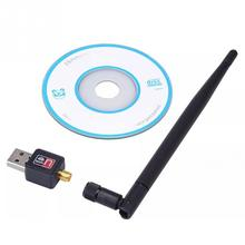 UW02 2DBi Network signal receiver Black 150Mbps USB 2.0 WIFI Wireless Adapter 150MCard 802.11n/g/b with Antenna